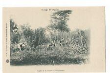 CONGO FRANCAIS , ASPECT DE LA BROUSSE , DEFRICHEMENT