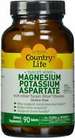 Magnesium Potassium Aspartate by Country Life, 90 tablet