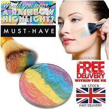 Rainbow Unicorn Highlighter Powder Shimmer Eyeshadow Palette Blusher Contour