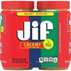 Jif Creamy Peanut Butter 48 Ounce 2-Count (6lb Total)Twin Pack