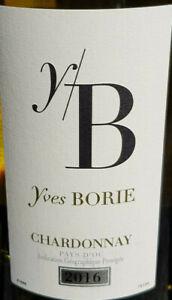neuer Rest 6x Yves BORlE Chardonnay 2016 12,5% IGP vin de pays d Oc