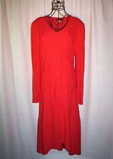 Vintage Nightworks Red Crinkle Stretch Party Dress Size L Large