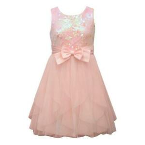 BONNIE JEAN Girls Plus 20.5 Pink Sequin & Mesh Dress NWT $70
