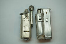 VINTAGE TRENCH LIGHTER LOT OF 2 ONE IS BOWERS FLIP ACTION SIDE SLEEVE WWII ERA