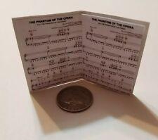 Miniature   1/6 Barbie  Phantom of the opera Musical Piano Sheet Music