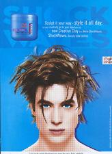 Wella Shockwaves Creative Clay 2003 Magazine Advert #3583