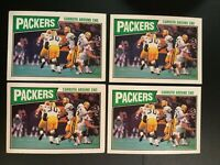 1987 Topps # 350 PACKERS TEAM CARD Lot 4 Green Bay Packers 2 NM-MINT 2 VG-EXT