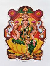 Window Hindu Sticker * LAKSHMI * 11.9cm x 9.1cm (D-81) Double Sided