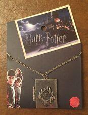 Harry Potter Marauders Map Solemnly Swear Mischief Managed Locket Necklace NWT!