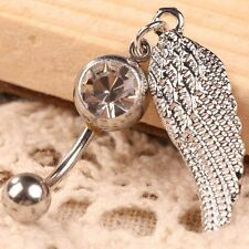 Charming Hot Navel Ring Belly Button Ring Jewelry Body Piercing Angel Feather
