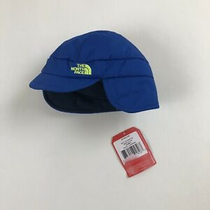 NWT The North Face Baby Flapjacks Hat XXS 0-6M Monster Blue Fleece Lined Cap