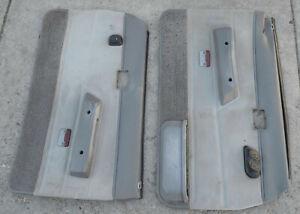 84-88 Toyota SR-5 Truck Door PANELS L&R Gray OEM parts power windows PROJECT