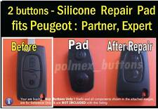 fits Peugeot 207 307 406 407 Expert  Partner remote flip key-2 Button Repair Pad