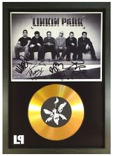 LINKIN PARK SIGNED GOLD DISC DISPLAY