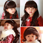 Cute Wigs Baby Child Wig Long Curly Hair Costume Princess Girl Wig + Hairne