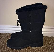 KHOMBU Weathermates Black All Weather Thermolite Faux Fur Lined Boots 9 M NIB