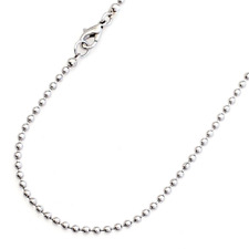 18 in. Ball Chain Necklace 2MM Stainless Steel - Lobster Claw Clasp