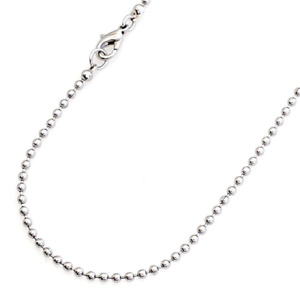 """2MM Stainless Steel 18"""" Ball Chain Necklace - Lobster Claw Clasp"""