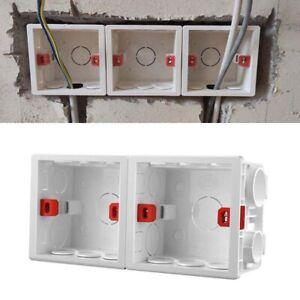 10X Adjustable 86 Switch socket Box,Mount Back Box Plasterboad Depth Wall Switch
