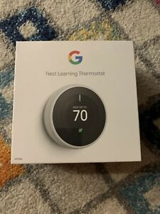 Google Nest 3rd Gen Thermostat BRAND NEW Factory Sealed - T3017US