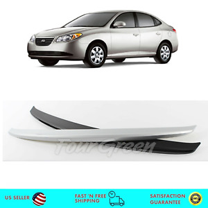 Silver Rear Trunk Wing Lip Spoiler Painted for Hyundai Elantra 2007-2010