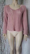 OSKA ash rose 100% linen knitted top jumper size 1