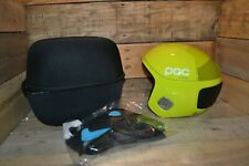 POC Skull Orbic Comp Spin Snow Helmet in Hexane Yellow M/L with Case, New