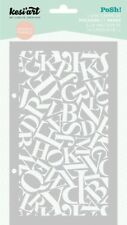 Pochoir Kesi'art posh! ALPHABET stencil masque scrapbooking art mixed média