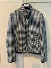 THOM BROWNE Jacket Harrington in Gingham Check Wool, S
