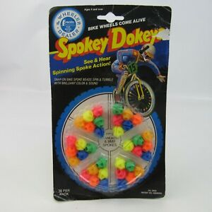Vintage Spokey Dokeys NEW Old Stock BMX Bike Wheels Spinning Spoke Bicycle Beads
