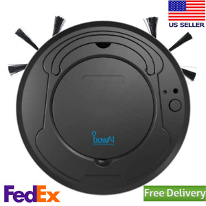 Dry Wet Mop Smart Robot Vacuum Cleaner For Pet Hair Rechargeable 1800pa Suction