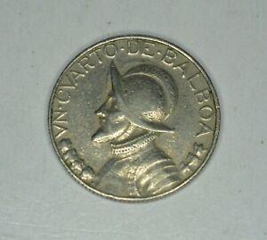 1982 Panama 25 Centisemos 1/4 Balboa Coin - Free Shipping Within US!