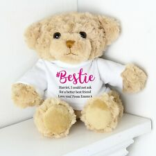 Personalised Bestie Teddy Bear Best Friend Gift BFF Thank You Friendship