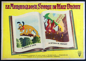 lotto 3 fotobuste film LE MERAVIGLIOSE.. WALT DISNEY animazione Cip e Ciop 1956