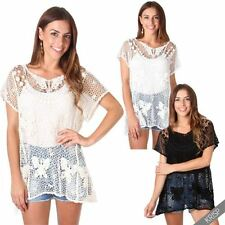 Camisa de mujer de manga corta de 100% algodón