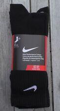 Nike Performance Cotton Socken SX3809 EUR 46-50 XL 3er Pack NEU schwarz Soft Dry