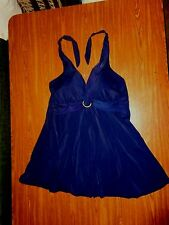 One piece It Figures DARK BLUE swimsuit/skirt WONEN'S SIZE 22W