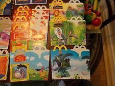 Lot Of 32 Vintage McDonalds Happy Meal Boxes + Extras See Pictures