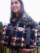TWEED Large Kate Spade Mackinac Hadley Satchel TRAVEL BAG $535 RETAIL WOOL PLAID