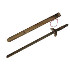 Wood Wooden Practice Sword w Sheath Play Kids Toy Costume Accessory Theatre Prop