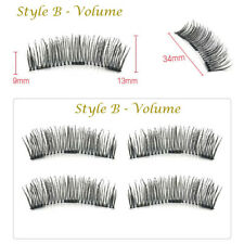 3d Triple Magnetic False Eyelashes Handmade With Tweezers Natural Extension 3068 B - Volume