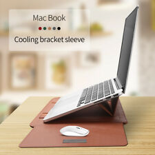 """Leather Envelop Laptop Sleeve Bag Case Stand Cover  MacBook Air Pro 11""""12""""13""""15"""""""