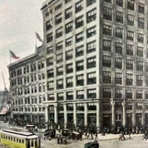 1907 Gimbel Bros Department Store Milwaukee Wisconsin WI Postcard