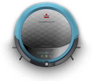 BISSELL - SmartClean Robot Vacuum Titanium/disco teal