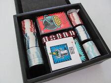 NIB Pop Artist Burton Morris (BCM) Poker Set for LEEDS in Leather Box