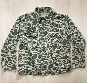 Crown Hunting Clothing Women's Camo Long Sleeve Button Up Shirt Size Large