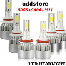 6Pcs 9005+9006+H11 4200W 630000LM Hi/Low Beam Bulbs Car Combo LED Headlight Kit