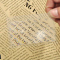 2/6/10Pcs Credit Card 3X Reading Magnifier Magnification Magnifying Fresnel LENS