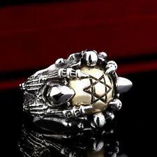 Davidster Skull ring, Star of David Skull ring, Davidsstern Totenkopfring