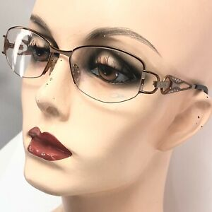 New Cazal Eyeglasses 1007 Col 882 Metal Copper Frames with Rhinestones Germany
